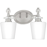 Quoizel HS8602BN Hollister 2 Light 14 inch Brushed Nickel Bath Light Wall Light