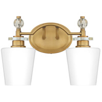 Quoizel HS8602WS Hollister 2 Light 14 inch Weathered Brass Bath Light Wall Light