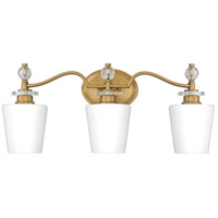Quoizel HS8603WS Hollister 3 Light 23 inch Weathered Brass Bath Light Wall Light