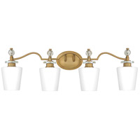 Quoizel HS8604WS Hollister 4 Light 32 inch Weathered Brass Bath Light Wall Light