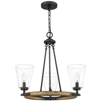 Quoizel Matte Black Steel Chandeliers
