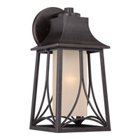 Quoizel Hunter 1 Light Outdoor Wall Lantern in Imperial Bronze HTR8408IBFL