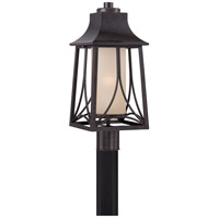 Quoizel Hunter 1 Light Outdoor Post Lantern in Imperial Bronze HTR9008IB