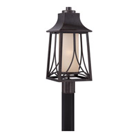 Quoizel Hunter 1 Light Outdoor Post Lantern in Imperial Bronze HTR9008IBFL