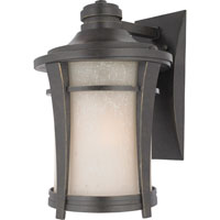 Harmony 1 Light 14 inch Imperial Bronze Outdoor Wall Lantern in Standard, Cream Linen Glass
