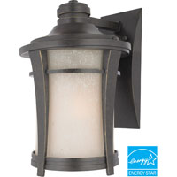 Harmony 1 Light 14 inch Imperial Bronze Outdoor Wall Lantern in Fluorescent, Cream Linen Glass