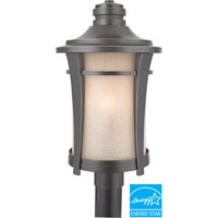 Quoizel Lighting Harmony 1 Light Outdoor Post Lantern in Imperial Bronze HY9011IBFL