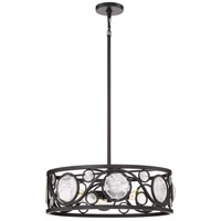 Jubilee 4 Light 22 inch Mystic Black Pendant Ceiling Light