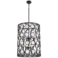 Jubilee 8 Light 22 inch Mystic Black Foyer Pendant Ceiling Light