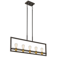 Quoizel JC532PN Junction 5 Light 36 inch Palladian Bronze Island Chandelier Ceiling Light