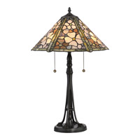 Jade Portable 25 inch Vintage Bronze Table Lamp Portable Light