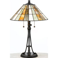 Quoizel Lighting Jade Portable 2 Light Table Lamp in Valiant Bronze JD601TVA