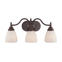 Quoizel Lighting Jefferson 3 Light Bath Light in Palladian Bronze JFN8603PN