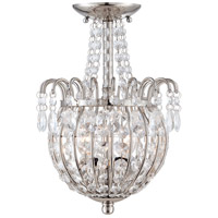 Jolene 2 Light 10 inch Imperial Silver Semi-Flush Mount Ceiling Light
