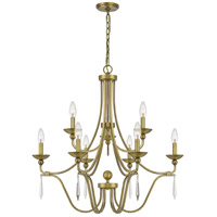 Quoizel JOU5032AB Joules 9 Light 32 inch Aged Brass Chandelier Ceiling Light