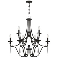 Quoizel JOU5032PN Joules 9 Light 32 inch Palladian Bronze Chandelier Ceiling Light