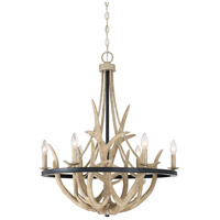 Journey 6 Light 26 inch Earth Black Chandelier Ceiling Light