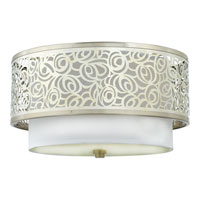 Quoizel Lighting Josslyn 2 Light Flush Mount in Brushed Nickel JS1615BN