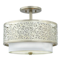 Quoizel Lighting Josslyn 2 Light Semi-Flush Mount in Brushed Nickel JS1715BN