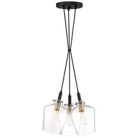June 3 Light 16 inch Earth Black Pendant Ceiling Light