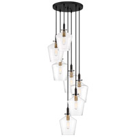 June 7 Light 20 inch Earth Black Pendant Ceiling Light