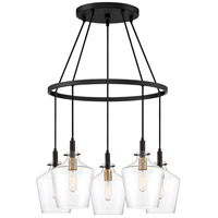 June 5 Light 26 inch Earth Black Chandelier Ceiling Light
