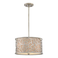 Quoizel Jarvis 3 Light Pendant in Old Silver JV2816OS