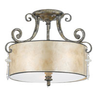 Quoizel KD1716MM Kendra 3 Light 16 inch Mottled Silver Semi-Flush Mount Ceiling Light alternative photo thumbnail