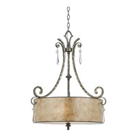 Quoizel KD2824MM Kendra 4 Light 24 inch Mottled Silver Pendant Ceiling Light alternative photo thumbnail