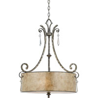 Kendra 4 Light 24 inch Mottled Silver Pendant Ceiling Light, Naturals