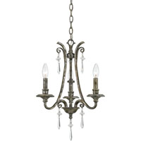 Quoizel Lighting Kendra 3 Light Chandelier in Mottled Silver KD5003MM