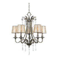 Quoizel KD5005MM Kendra 5 Light 27 inch Mottled Silver Chandelier Ceiling Light, Naturals alternative photo thumbnail