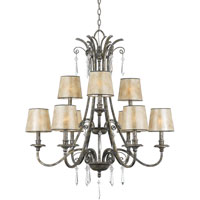Quoizel Lighting Kendra 9 Light Chandelier in Mottled Silver KD5009MM