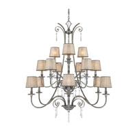 Quoizel Lighting Kendra 15 Light Chandelier in Mottled Silver KD5015MM