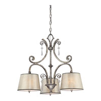 Quoizel Lighting Kendra 3 Light Chandelier in Mottled Silver KD5103MM alternative photo thumbnail