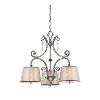 Quoizel Lighting Kendra 3 Light Chandelier in Mottled Silver KD5103MM photo thumbnail