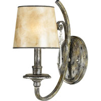 Quoizel Lighting Kendra 1 Light Wall Sconce in Mottled Silver KD8701MM