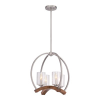 Quoizel KDN5004BN Kayden 4 Light 20 inch Brushed Nickel Chandelier Ceiling Light, Naturals