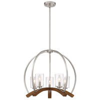 Quoizel KDN5005BN Kayden 5 Light 24 inch Brushed Nickel Chandelier Ceiling Light, Naturals