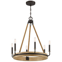 Quoizel KEA5025WT Kearney 6 Light 26 inch Western Bronze Chandelier Ceiling Light