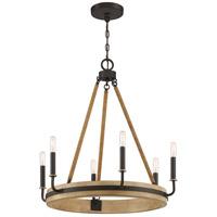 Quoizel KEA5025WT Kearney 6 Light 26 inch Western Bronze Chandelier Ceiling Light