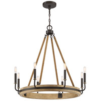 Quoizel KEA5031WT Kearney 8 Light 31 inch Western Bronze Chandelier Ceiling Light