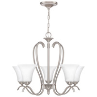Kingfield 5 Light 25 inch Brushed Nickel Chandelier Ceiling Light
