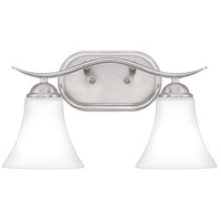 Kingfield 2 Light 16 inch Brushed Nickel Bath Light Wall Light, Medium