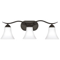Kingfield 3 Light 25 inch Old Bronze Bath Light Wall Light, Large