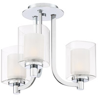 Quoizel KLT1715C Kolt 3 Light 15 inch Polished Chrome Semi-Flush Mount Ceiling Light alternative photo thumbnail