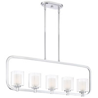 Quoizel KLT538C Kolt 5 Light 38 inch Polished Chrome Island Chandelier Ceiling Light