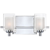 Quoizel KLT8602CLED Kolt LED 13 inch Polished Chrome Bath Light Wall Light in Frosted LED G9 alternative photo thumbnail