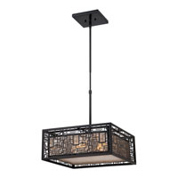 Quoizel Lighting Kenner 4 Light Pendant in Mystic Black KNR2817K alternative photo thumbnail