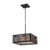 Quoizel Lighting Kenner 4 Light Pendant in Mystic Black KNR2817K